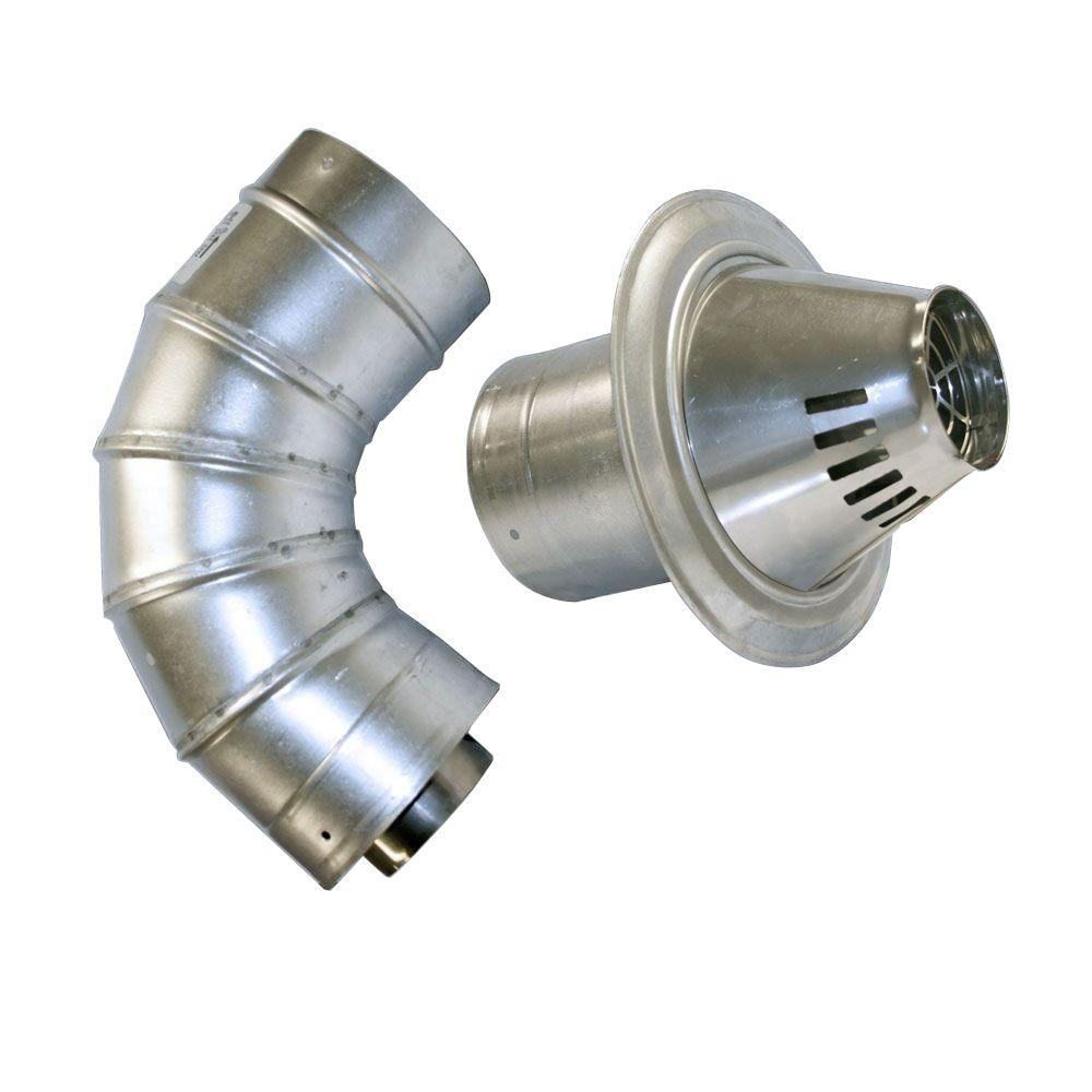 3 in. x 5 in. Stainless Steel Low Profile Termination Vent