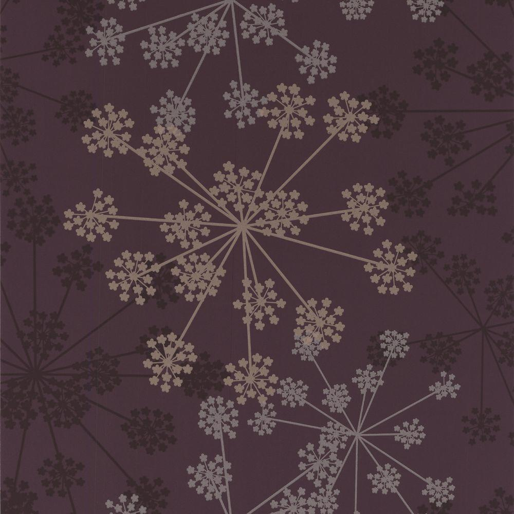 Graham & Brown 56 sq. ft. Sparkle Purple Wallpaper-DISCONTINUED
