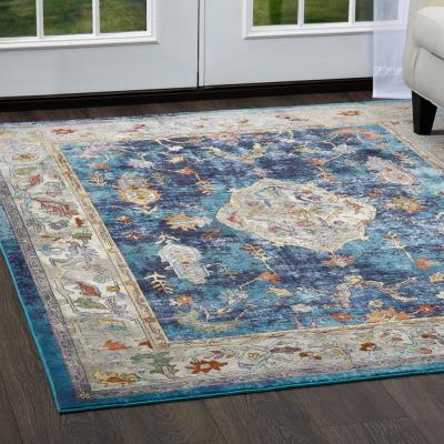 Parlin Navy/Ivory 8 ft. x 9 ft. Indoor Area Rug