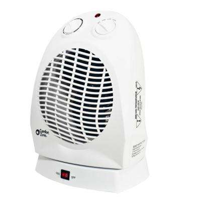750/1,500-Watt Ceramic Electric Portable Heater with Thermostat in White