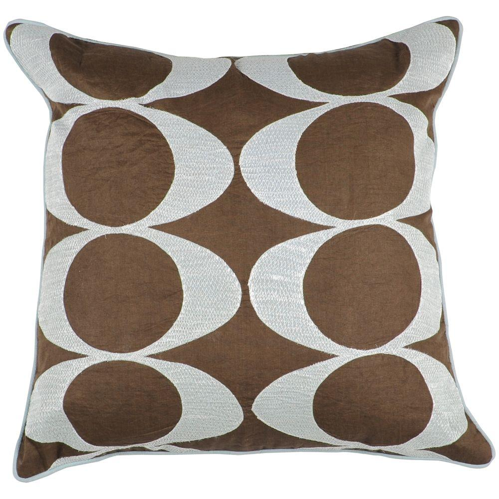 Artistic Weavers CirclesD 18 in. x 18 in. Decorative Pillow-DISCONTINUED