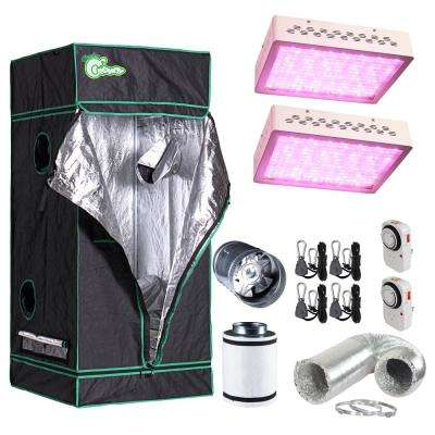 600-Watt Equivalent Grow/Bloom Full Spectrum LED Plant Grow Light Fixture with Grow Tent and Ventilation System