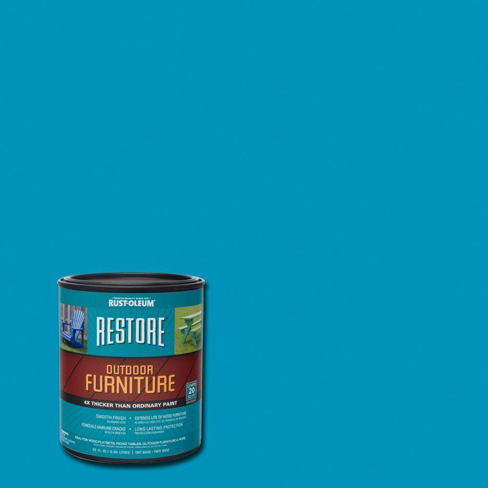 1  Qt. Oasis Blue Outdoor Furniture Exterior Solid Stain