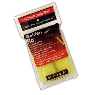 4-1/2 in. x 3/8 in. Jumbo-Koter Gold Flo Synthetic Rollers (2-Pack)