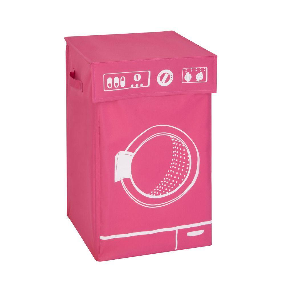 Honey-Can-Do Washing Machine Graphic Hamper in Pink