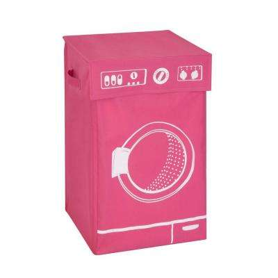 Washing Machine Graphic Hamper in Pink