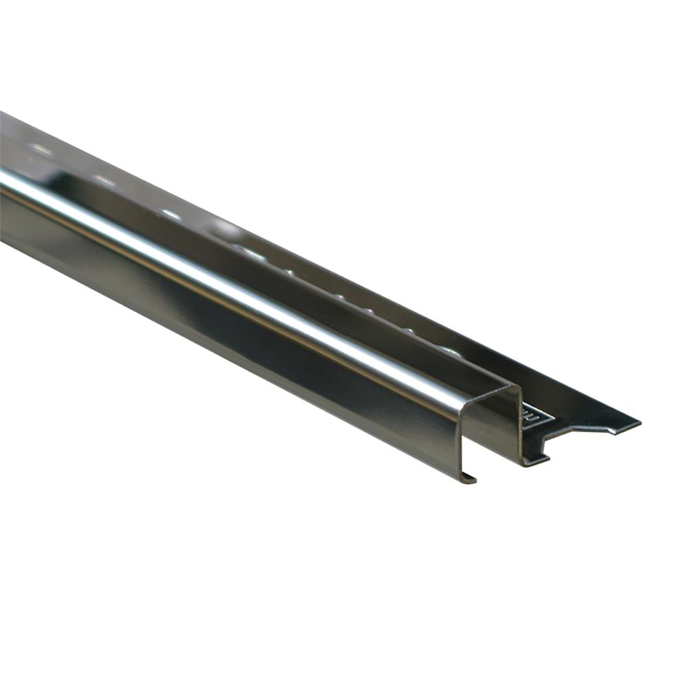 Emac Novolistel 3 Natural 1/2 in. x 98-1/2 in. Stainless Steel Tile Edging Trim