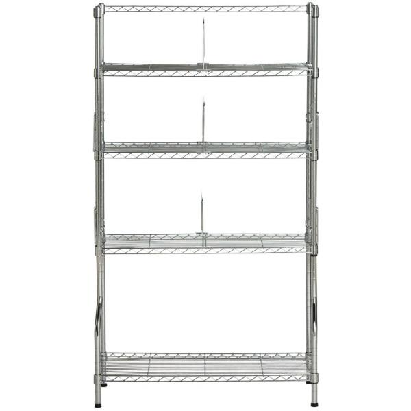 Chrome 5-Tier Carbon Steel Wire Shelving Unit (30 in. W x 53 in. H x 12 in. D)