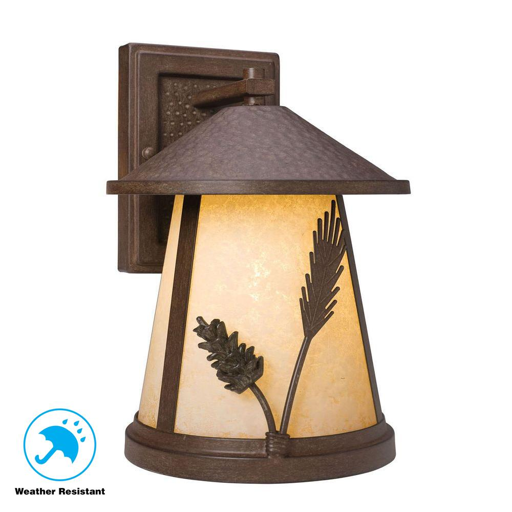 Home Lighting Collections: Home Decorators Collection Lodge 1-Light Weathered Spruce