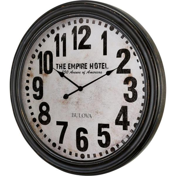 Bulova 31 in. H x 31 in. W Round Gallery Wall Clock with Ogee Case Design
