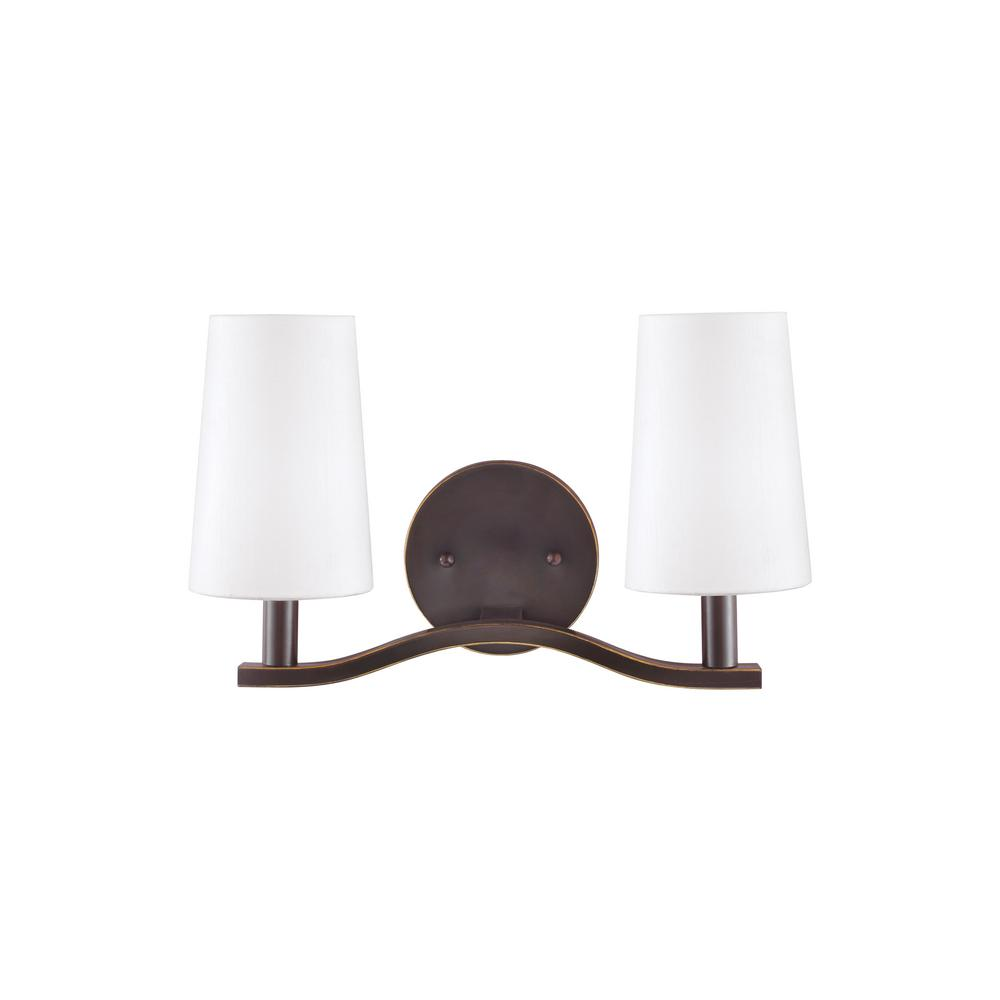 Nance 2-Light Heirloom Bronze Bath Light