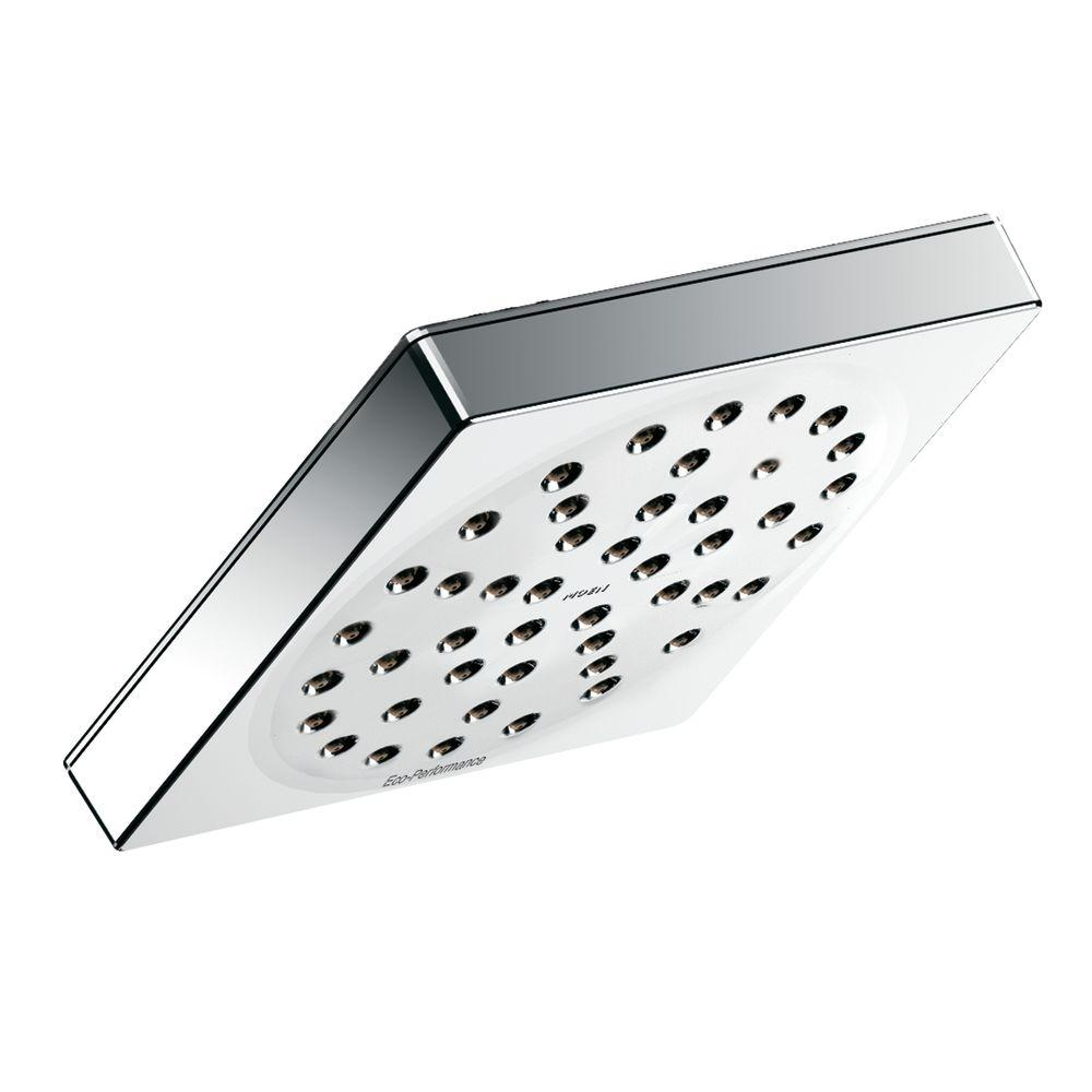 MOEN 90° 1 Spray 6 In. Rainshower Showerhead Featuring Immersion In Chrome