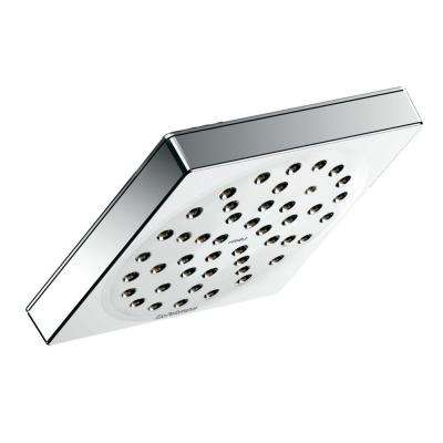 90° 1-Spray 6 in. Rainshower Showerhead Featuring Immersion in Chrome