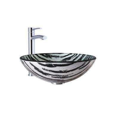 Vessel Sink in Rising Moon and Milo Faucet Set in Chrome