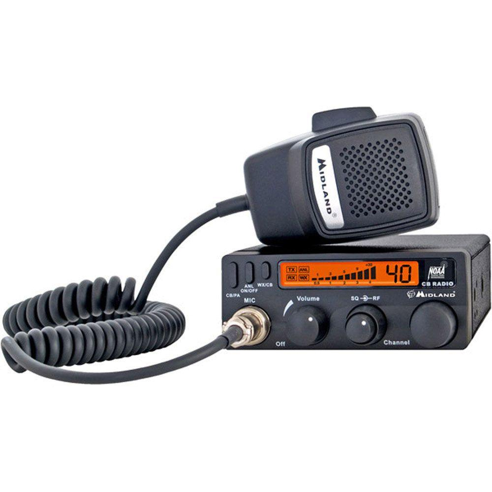 Midland 30-Mile 40 Channel Mobile CB Radio (1-Pack)-1001LWX - The ...
