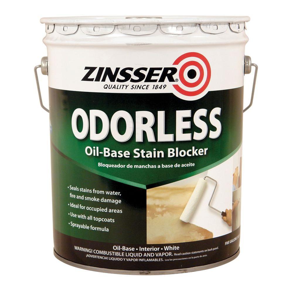 Zinsser 5 Gal Odorless Oil Based Stain Blocker Interior Primer