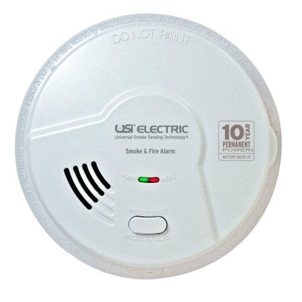 Universal Security Instruments 10-Year Sealed Battery Back-Up Operated Smoke and Fire Alarm