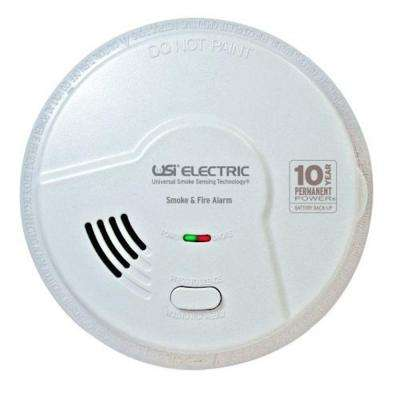10-Year Sealed Battery Back-Up Operated Smoke and Fire Alarm