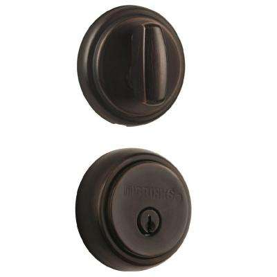 Amberhall Single Cylinder Tuscan Bronze Push Pull Rotate Deadbolt