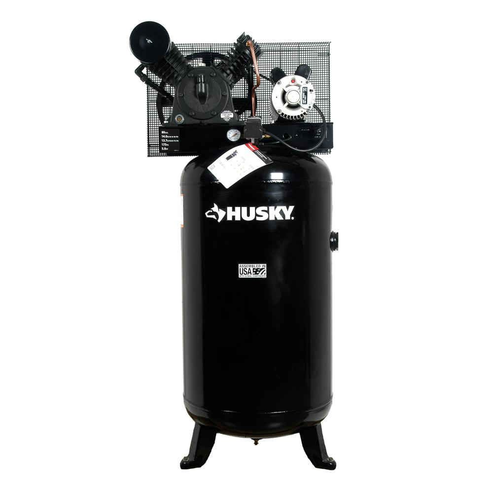 80 Gal. 5 HP 2-Stage Air Compressor