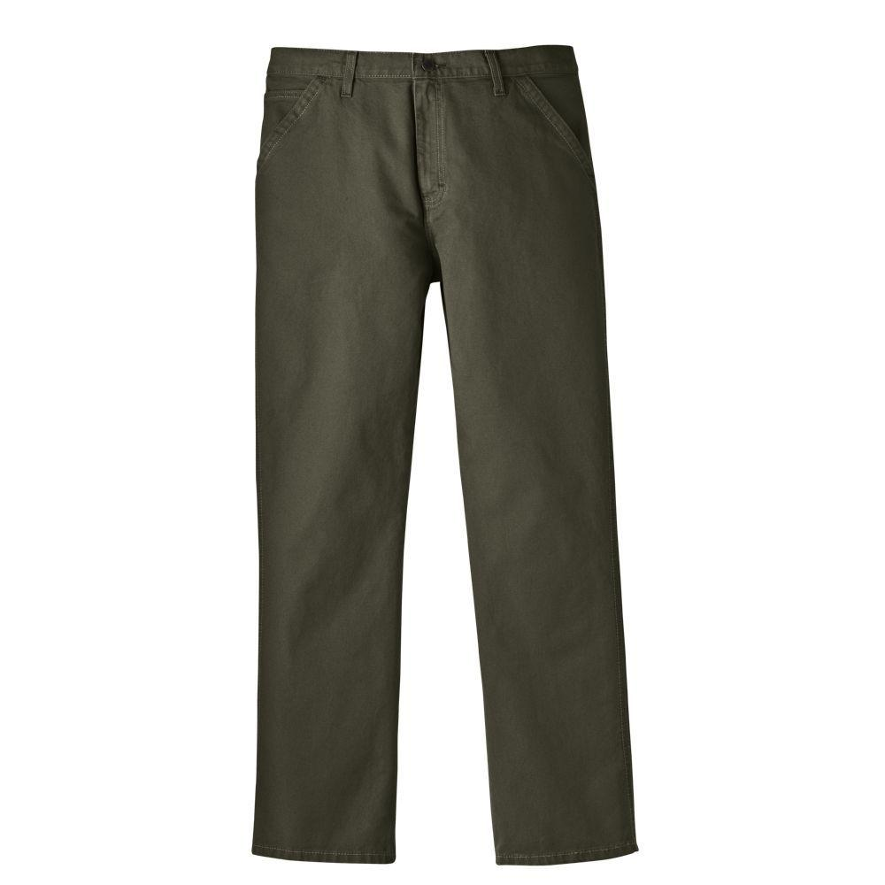 Dickies Relaxed Fit 30 in. x 32 in. Cotton 5-Pocket Jean Moss-DISCONTINUED