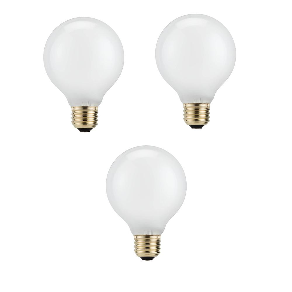 Philips 40 Watt Equivalent G25 Halogen White Decorative Globe Light Bulb 3 Pack