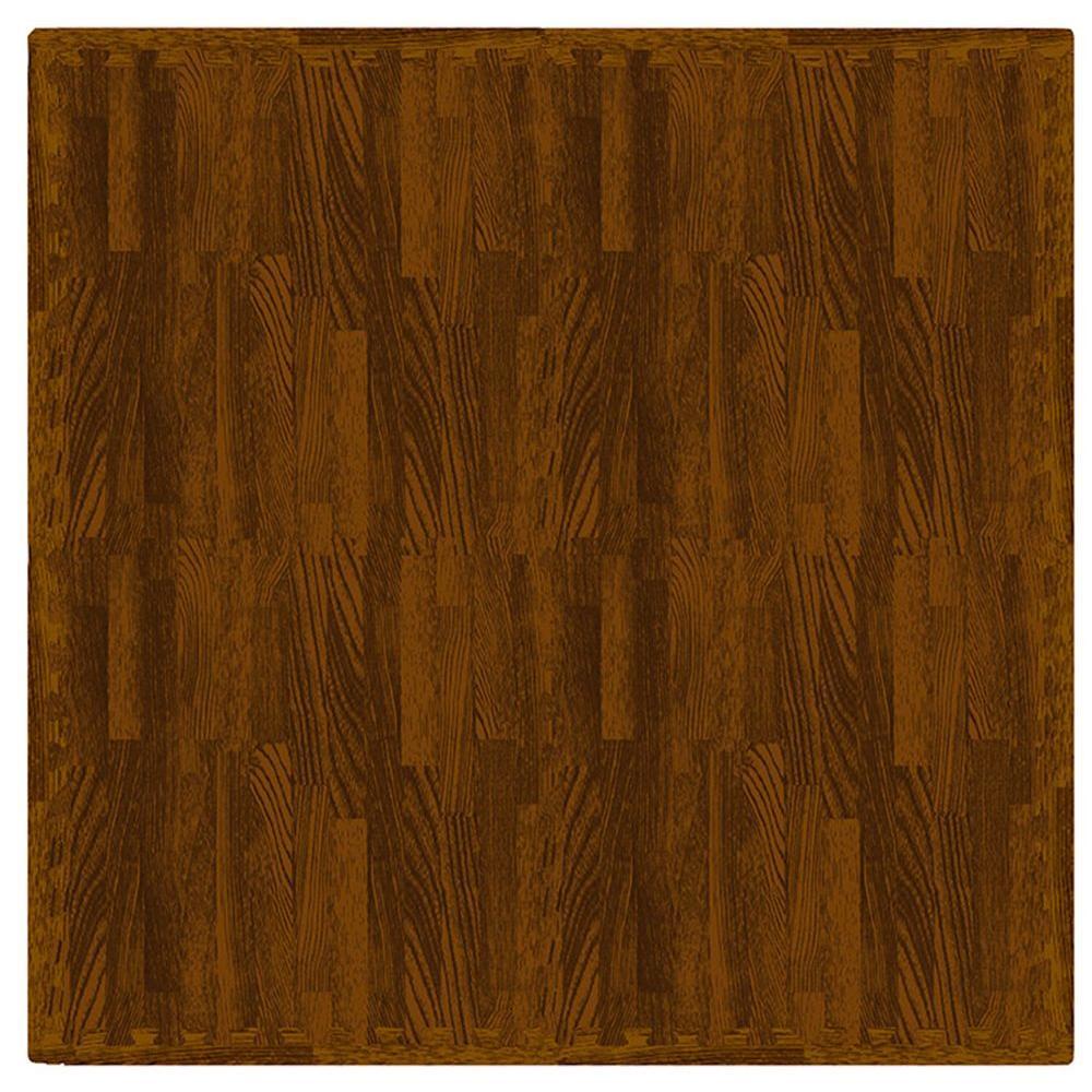 Maple Wood 24 in. x 24 in. Interlocking Foam Mat (4-Pack)