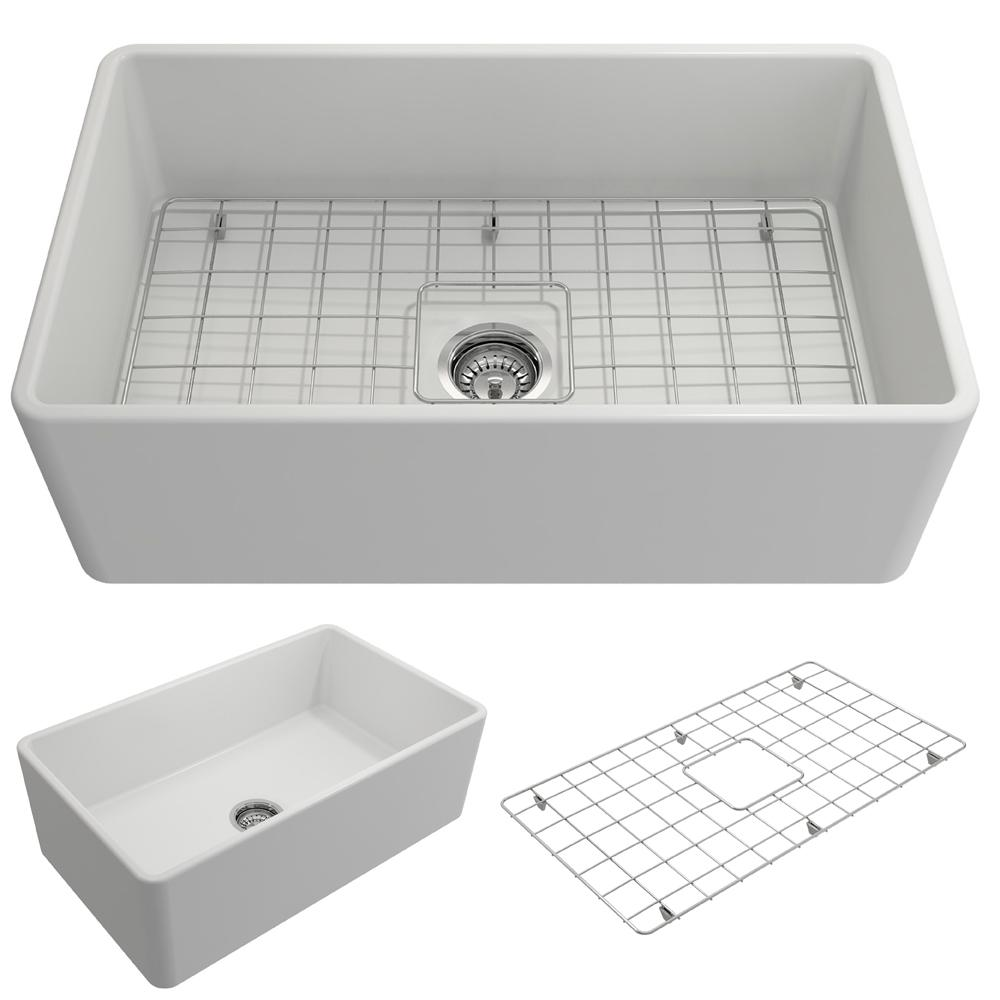 Classico Farmhouse/Apron Front Fireclay 30 in. Single Bowl Kitchen Sink with