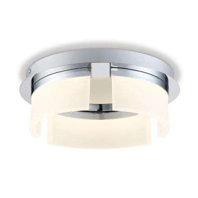 Bria Collection 24-Watt Chrome Integrated LED Flushmount