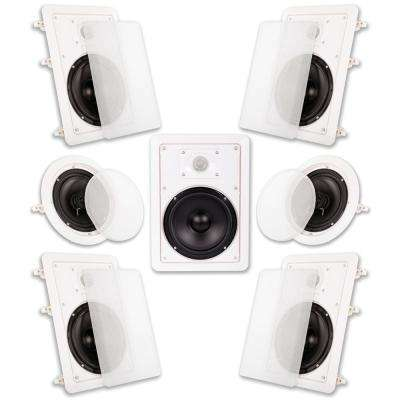In Wall/Ceiling 1750-Watt 6.5 in. Home Theater 7 Speaker System