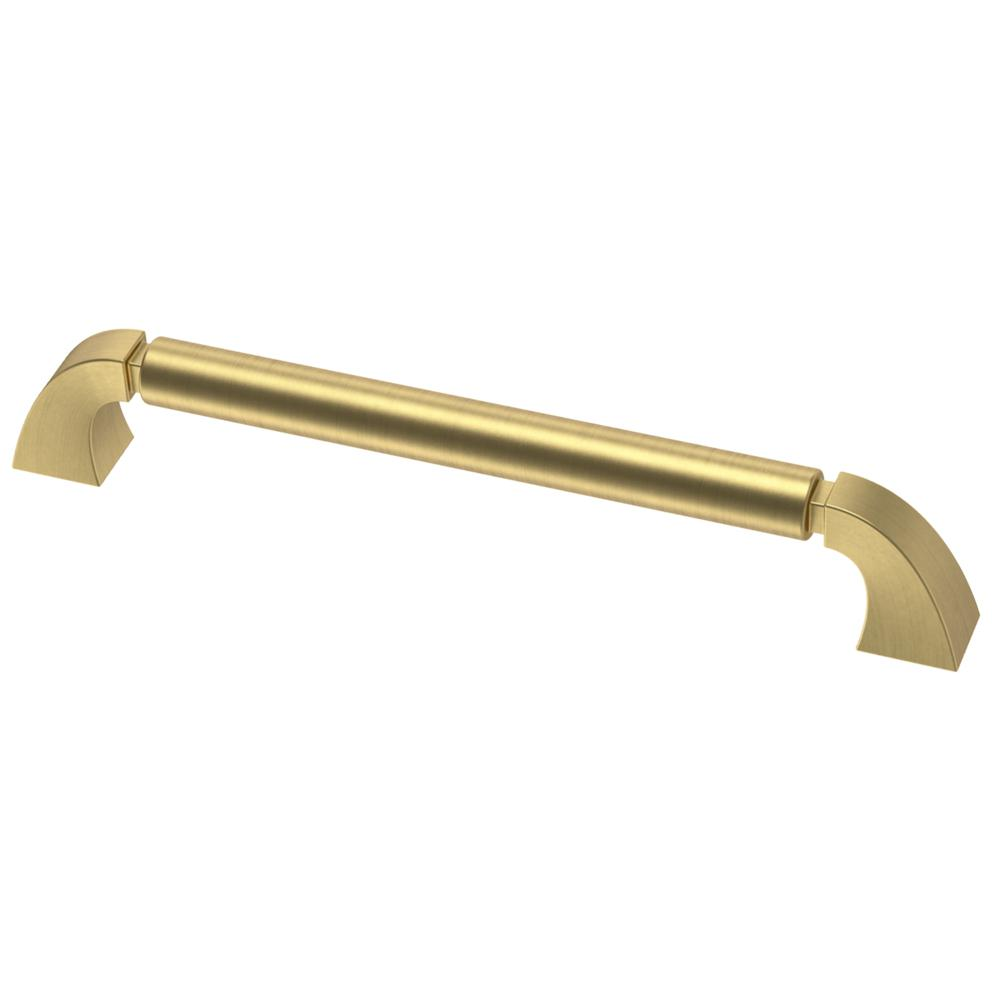 Liberty Warm Industrial 6-5/16 in. (160mm) Center-to-Center Brushed Brass Drawer Pull
