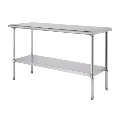 EcoStorage 72 in. x 24 in. Stainless Steel NSF Kitchen Utility Table with Adjustable Bottom Shelf