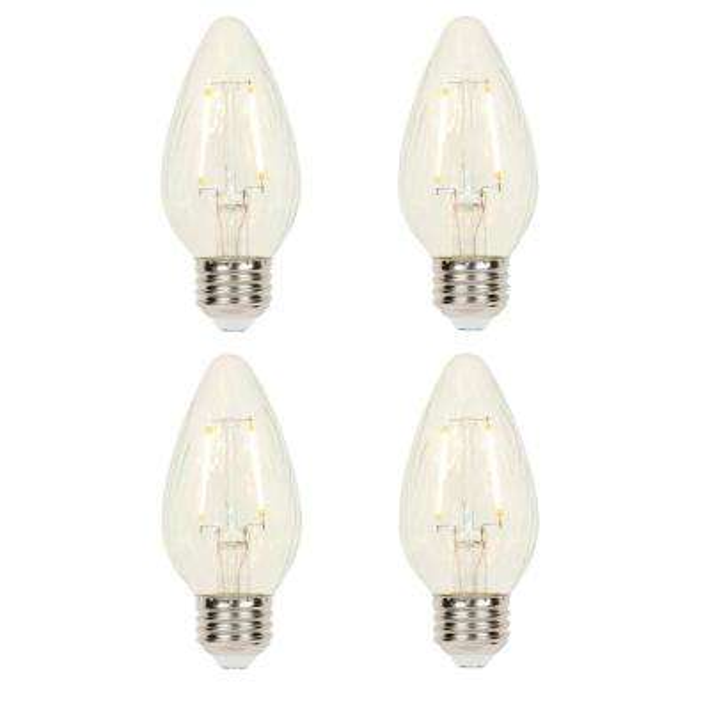 25-Watt Equivalent F15 Dimmable Filament LED Light Bulb Soft White (4-Pack)