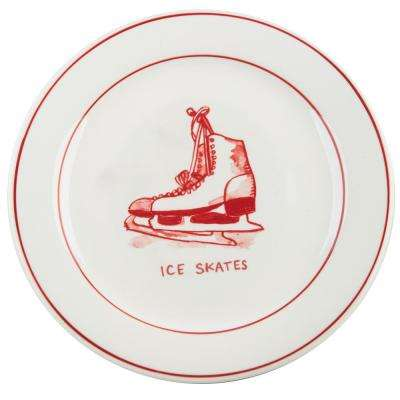 Molly Hatch 8.5 in. D Ice Skates Salad Plate