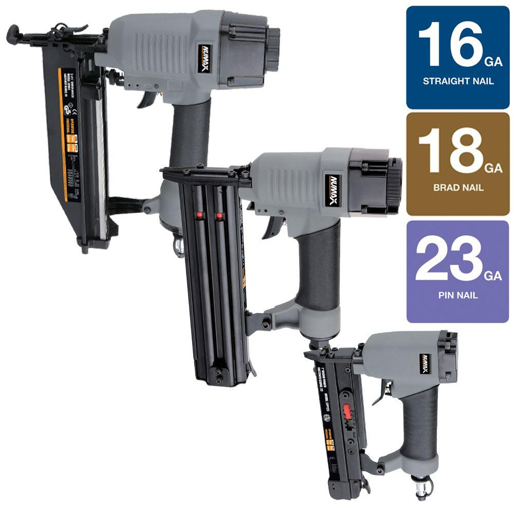 NuMax 3-Piece Finishing Nailer Combo Kit