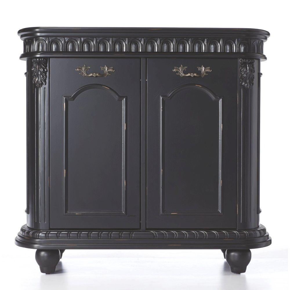 Home Decorators Collection 35 in. W Kendall Double Pull-Out Hamper in Antique Black
