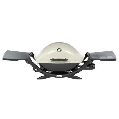 Q 2200 1-Burner Portable Propane Gas Grill in Titanium with Built-In Thermometer