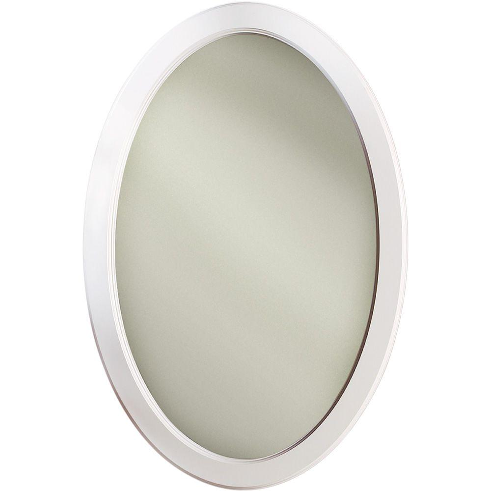 Dunhill 21 in. W x 31 in. H x 3.5 in. D Oval Mirrored Recessed ...