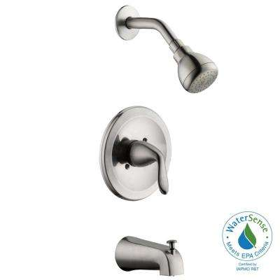 Constructor Single-Handle 1-Spray Tub and Shower Faucet in Brushed Nickel (Valve Included)