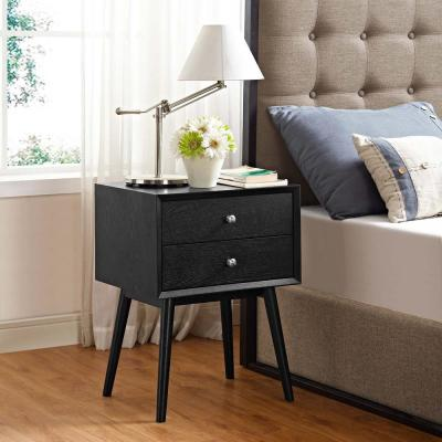 Dispatch Black Nightstand in