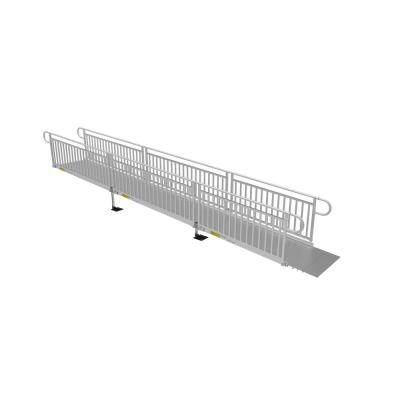 PATHWAY 3G 22 ft. Wheelchair Ramp Kit with Solid Surface Tread and Vertical Picket Handrails