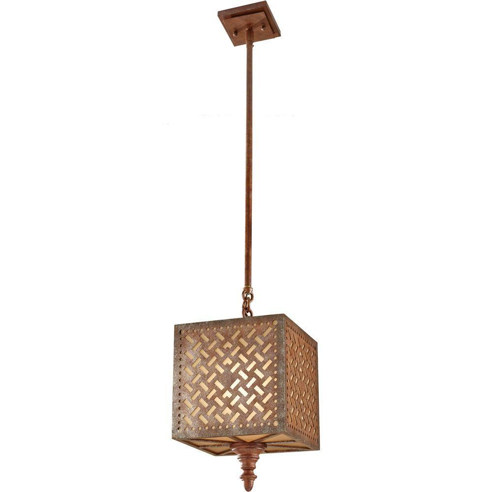 Kandira 1-Light Moroccan Bronze Mini Pendant