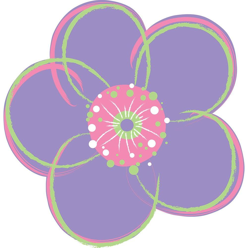 13 in x 13 in purple poppies red flowers wall decal wpf93958 the purple poppies red flowers wall decal mightylinksfo