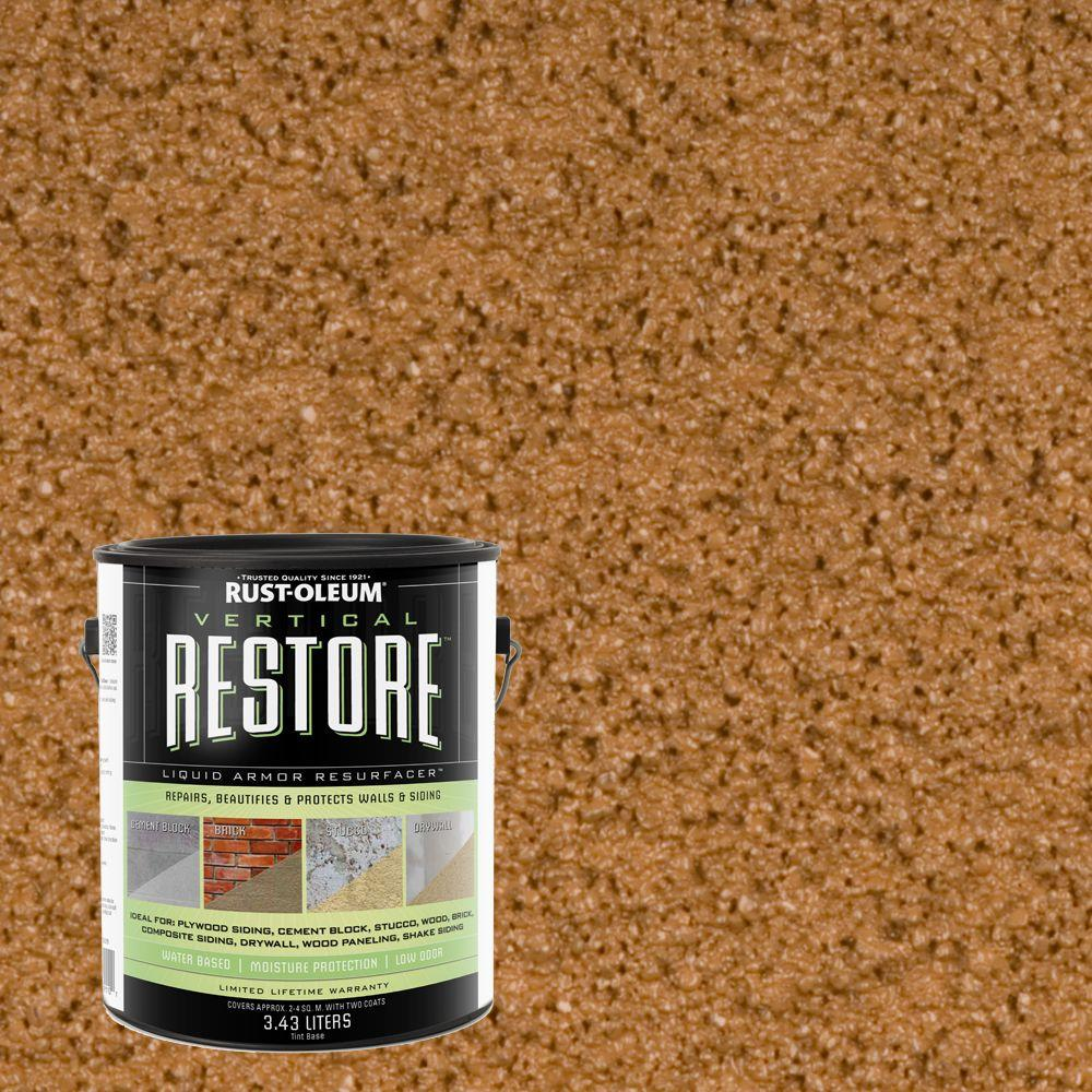 Rust-Oleum Restore 1-gal. Saddle Vertical Liquid Armor Resurfacer for Walls and Siding