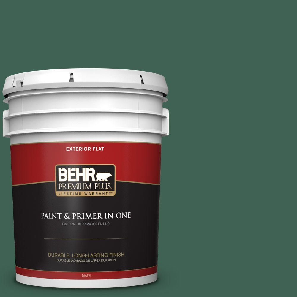 5-gal. #M430-7 Green Agate Flat Exterior Paint