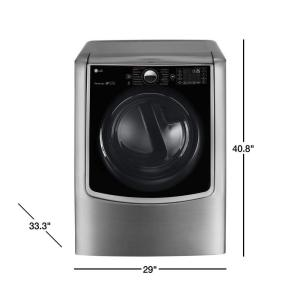 LG Electronics 9 0 cu  ft  Smart Electric Dryer with Steam and WiFi Enabled  in Graphite Steel