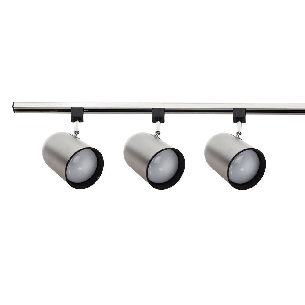 ceiling mount track lighting surface mounted 3light nickel stem mount track lighting kit nicor ft kit10989nkst