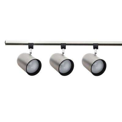 4 ft. 3-Light Nickel Stem Mount Track Lighting Kit