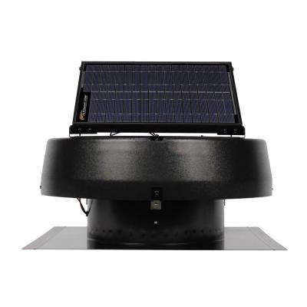 20-Watt Solar Powered Roof Attic Fan 1680CFM