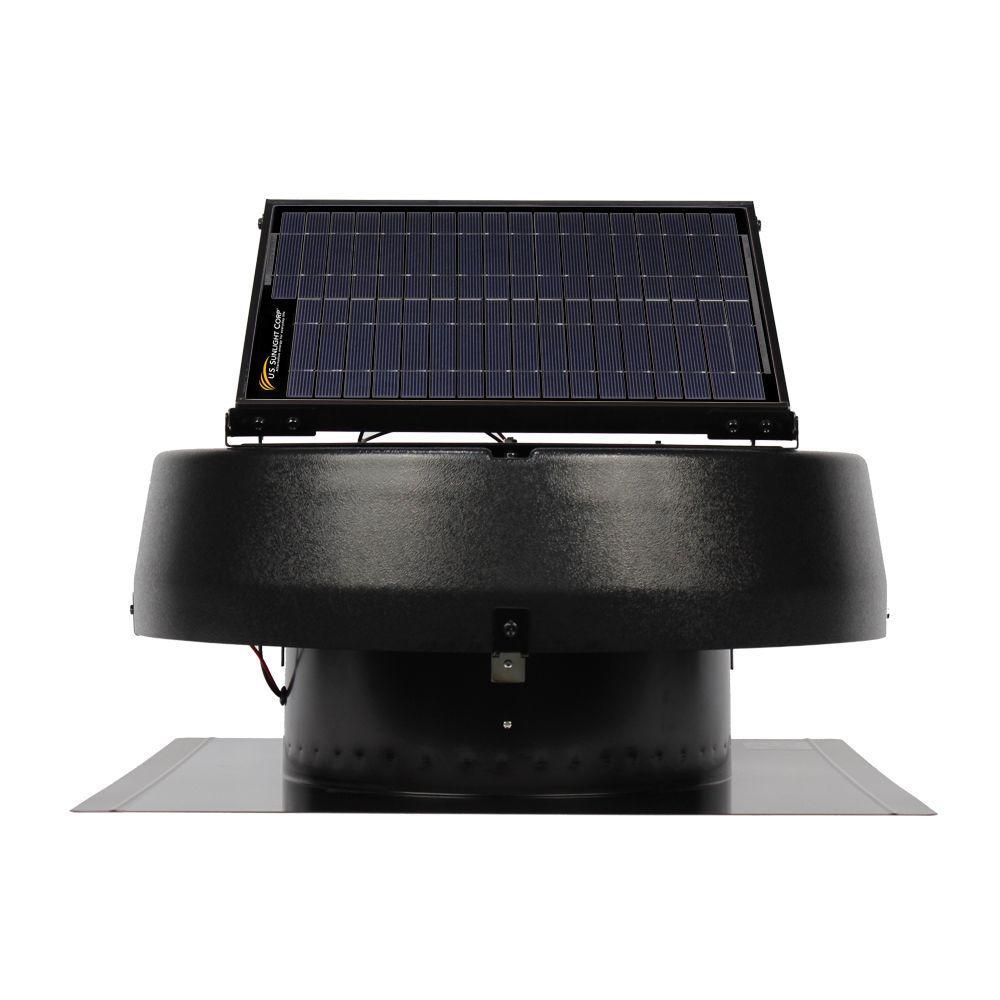 1960CFM 30-Watt Solar Powered Roof Attic Fan